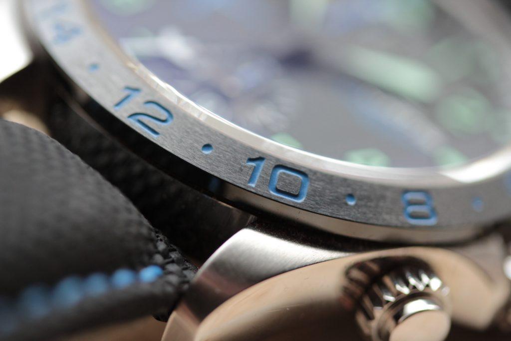 Fortis Dornier GMT chronograph engraved bezel