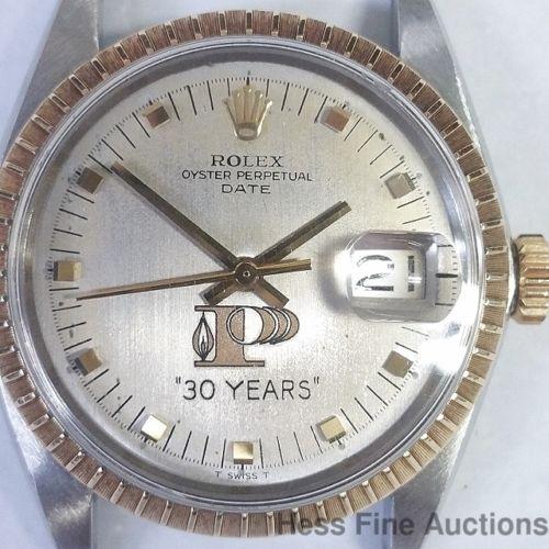 hess fine auctions rolex private label genuine 1505