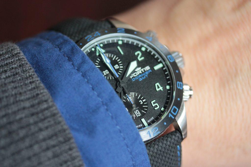 Fortis Dornier GMT chronograph wristshot
