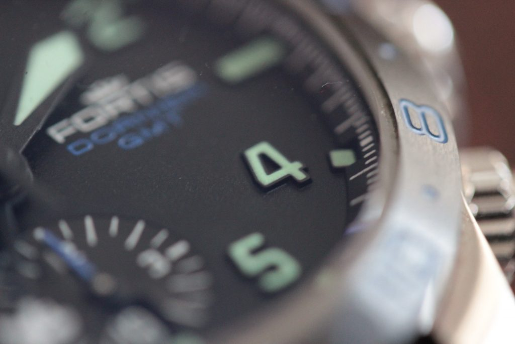 Fortis Dornier GMT chronograph raised index numbers