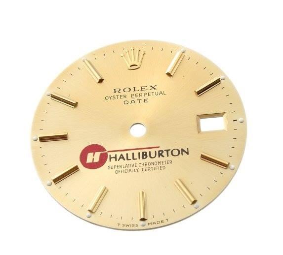 halliburton dial rolex